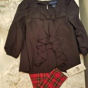 Ralph Lauren Girls Holiday Outfit 24 months